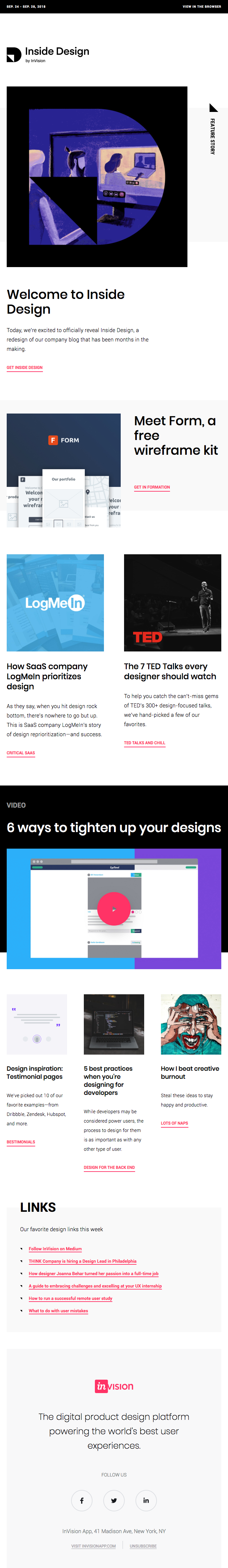 The InVision blog is now Inside Design