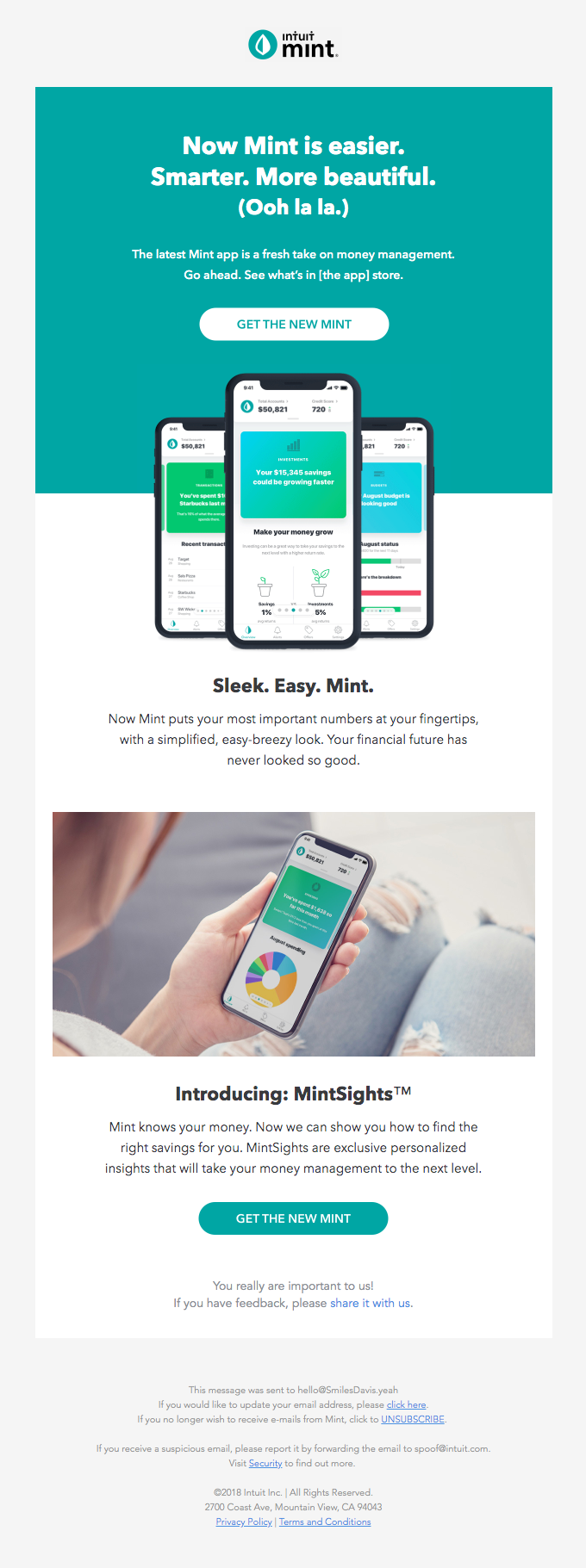 The New Mint. Smart. Sleek. Personalized.