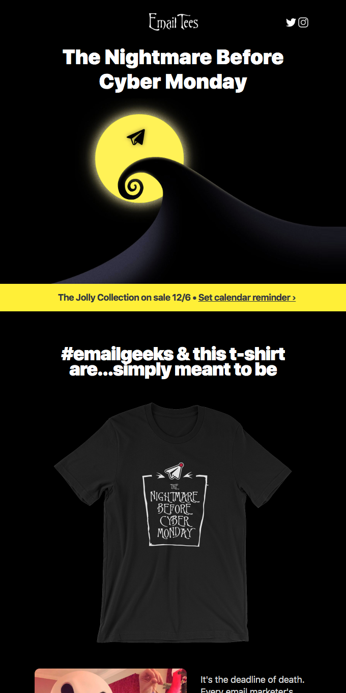 The Nightmare Before Cyber Monday