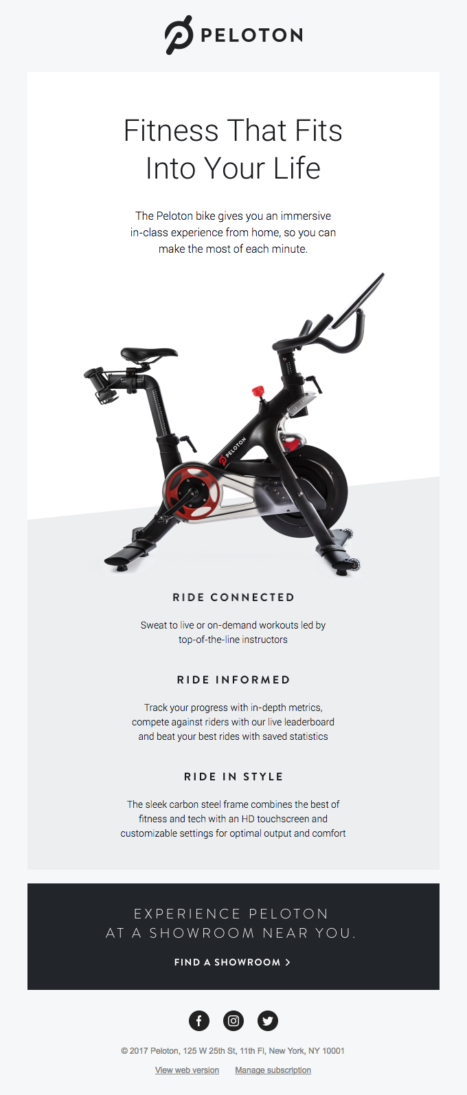 The Peloton Bike: Studio cycling from the comfort of home