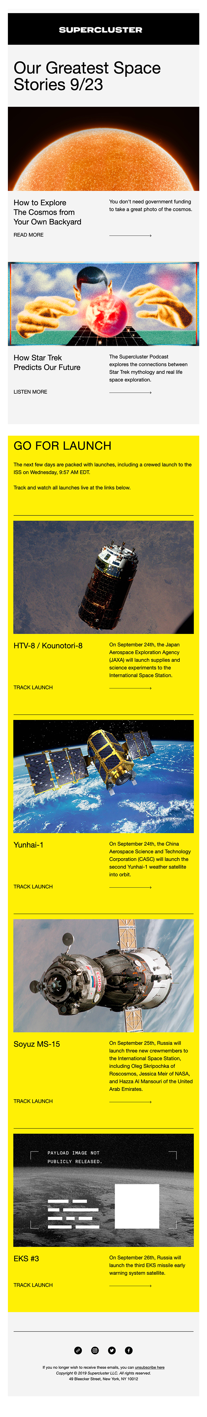The Supercluster Newsletter 9.23.19