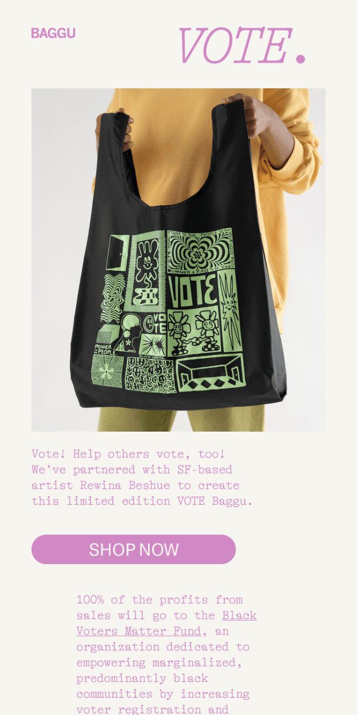 The VOTE Baggu ✅