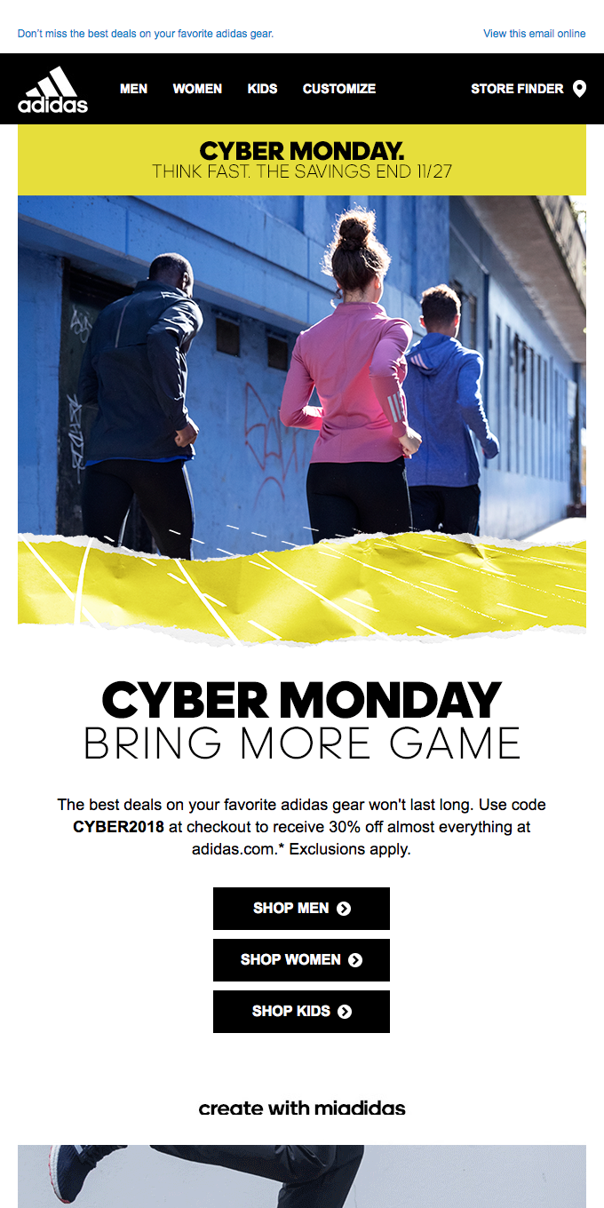 Think fast. Cyber Monday is our biggest sale.