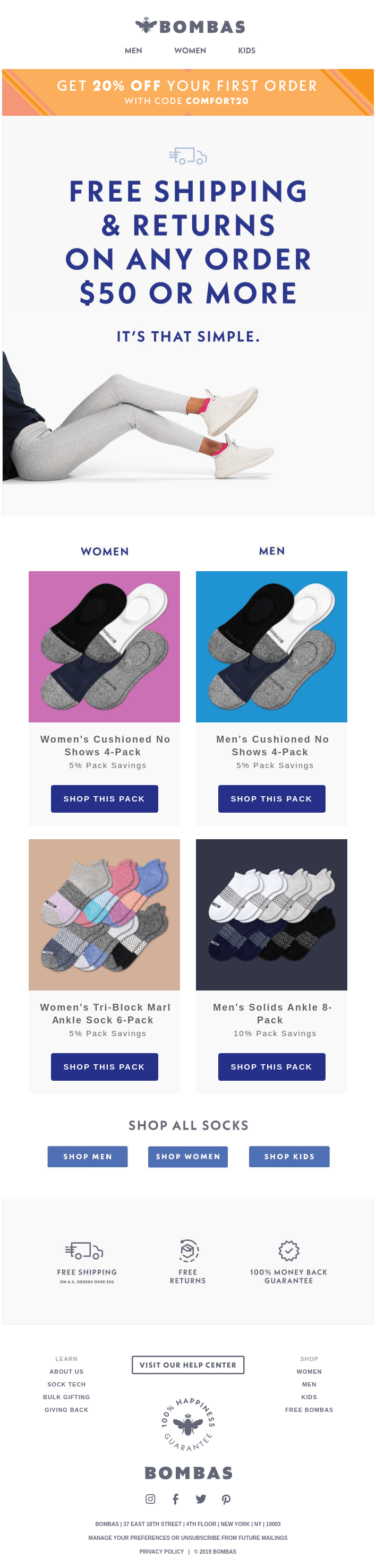 This Is How You Get Free Shipping On Bombas