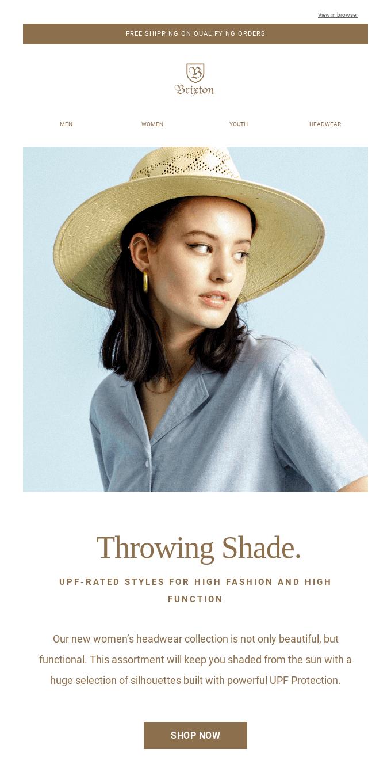 Throwing Shade: 50+ UPF-Rated Headwear