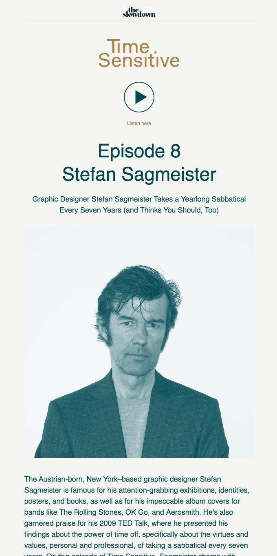 Time Sensitive Podcast Ep. 8: Stefan Sagmeister