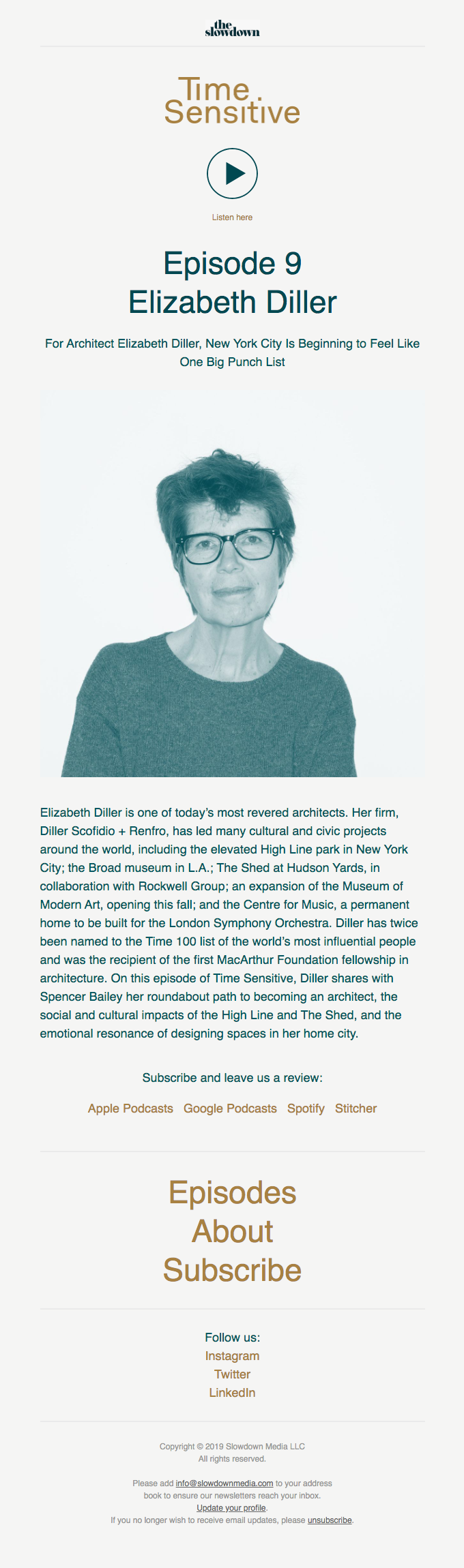 Time Sensitive Podcast Ep. 9: Elizabeth Diller