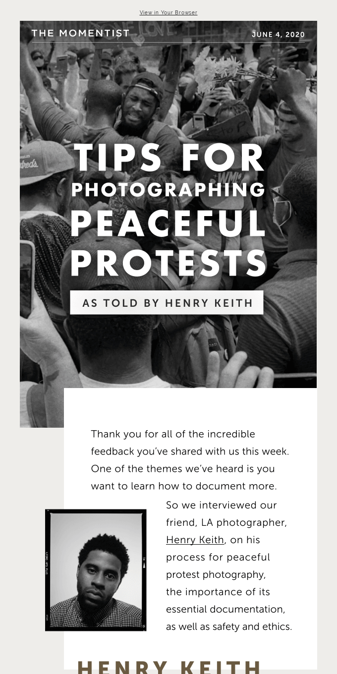 Tips for Photographing Peaceful Protests