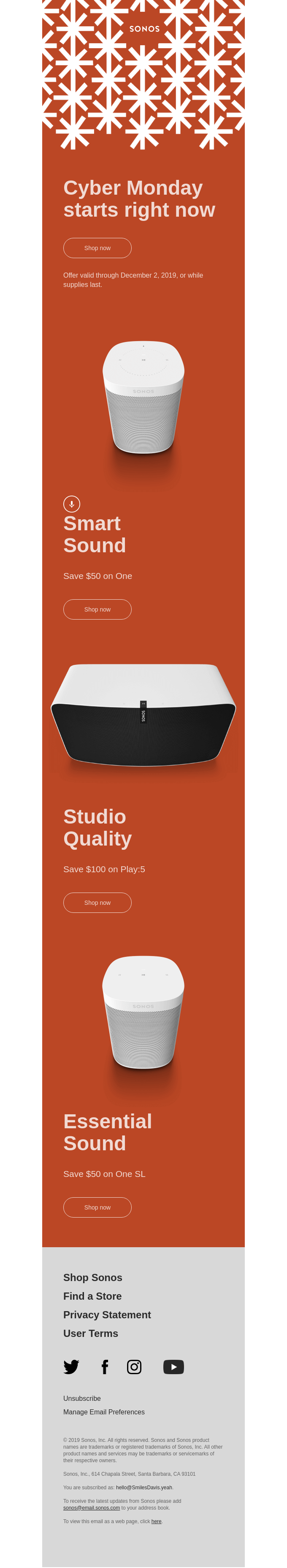 Today only: Save $100 on great sound