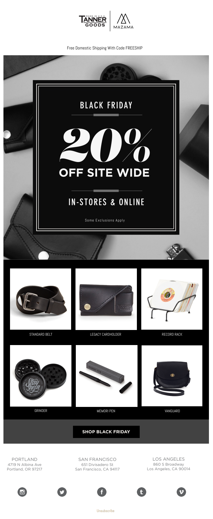 Today's the day. 20% off site-wide!