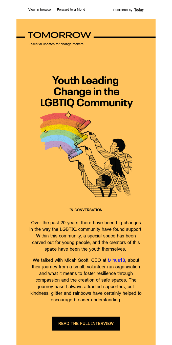 Tomorrow #11 – Youth leading change in the LGBTIQ community