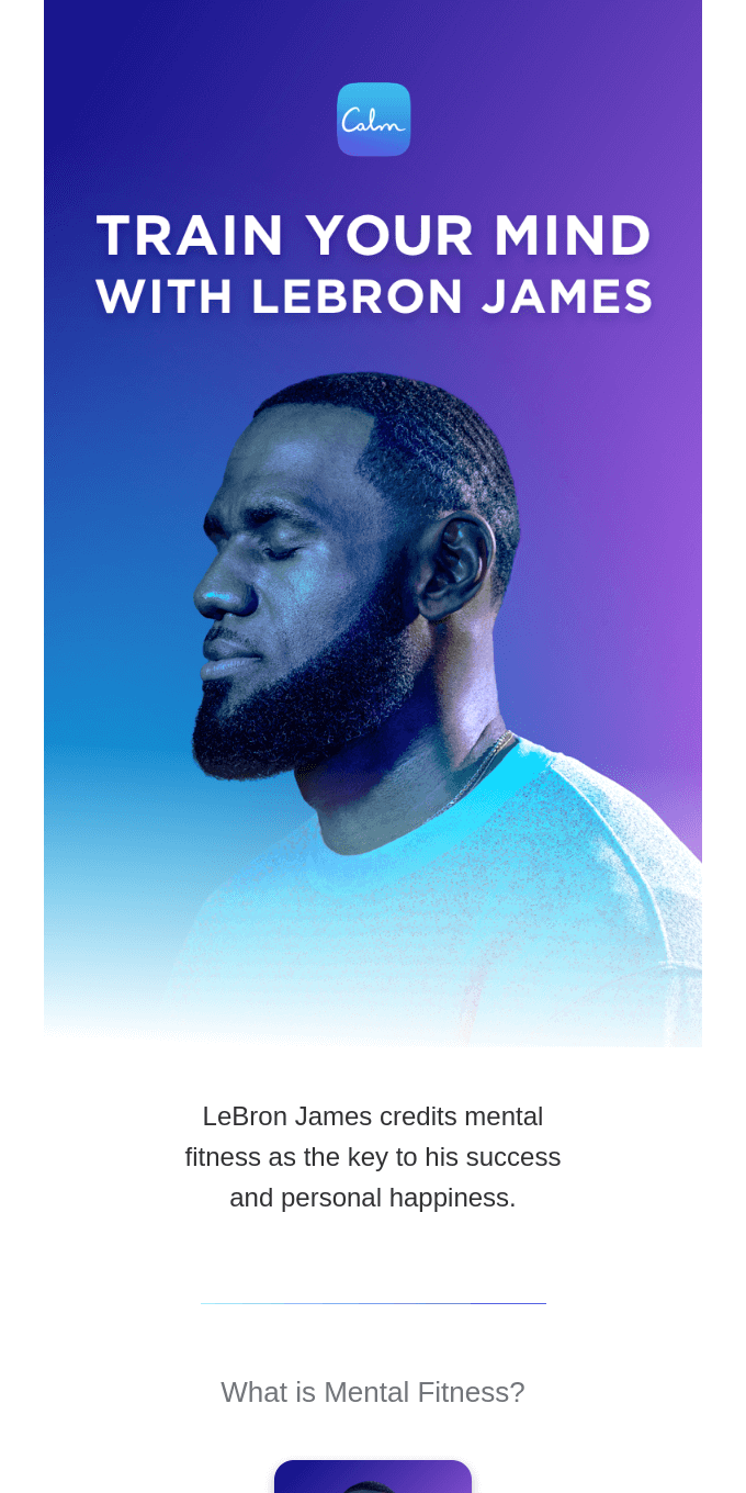 Train your mind with LeBron James