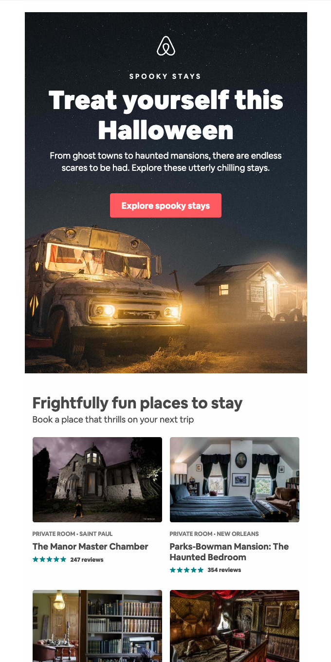 Trick or treat! Try a spooky stay