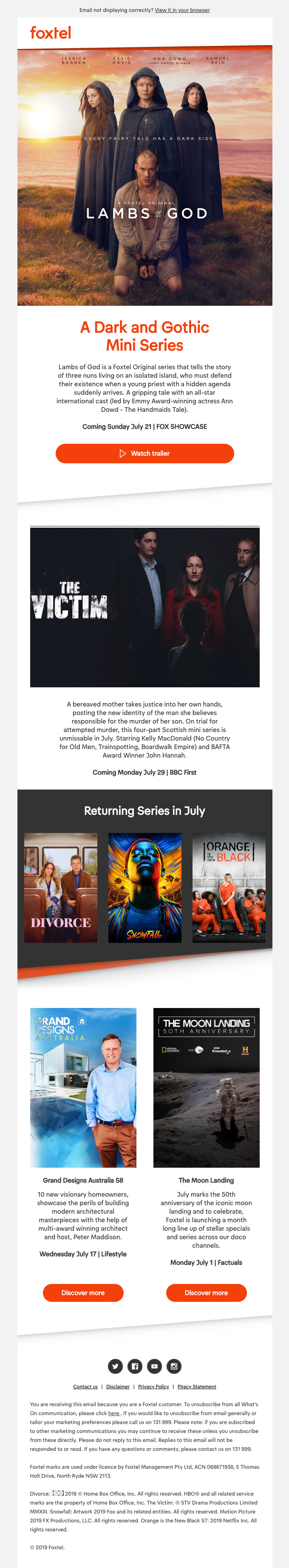 Unmissable TV hitting your screen this July