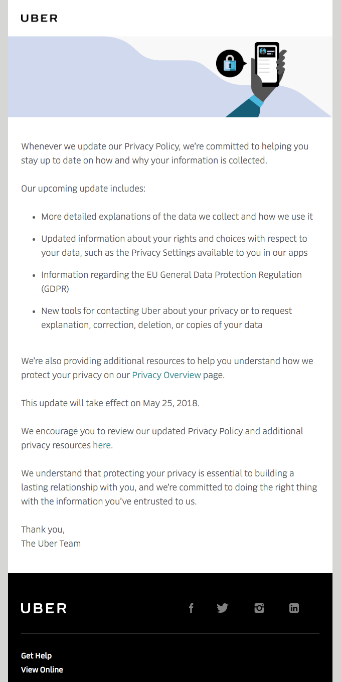 Updates to Uber's Privacy Policy