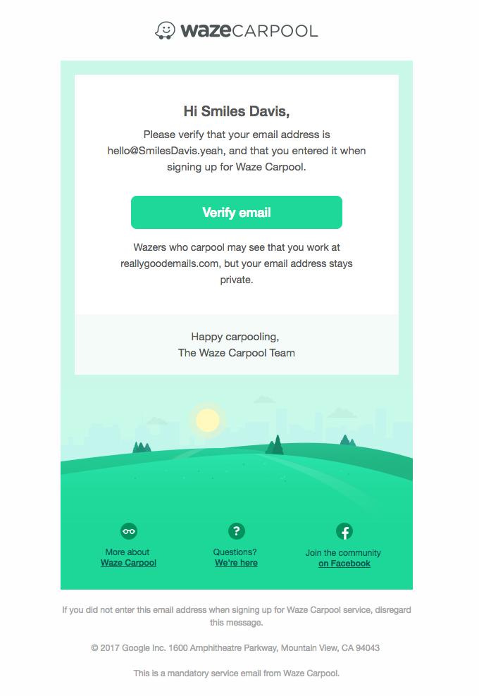 Verify your work email address