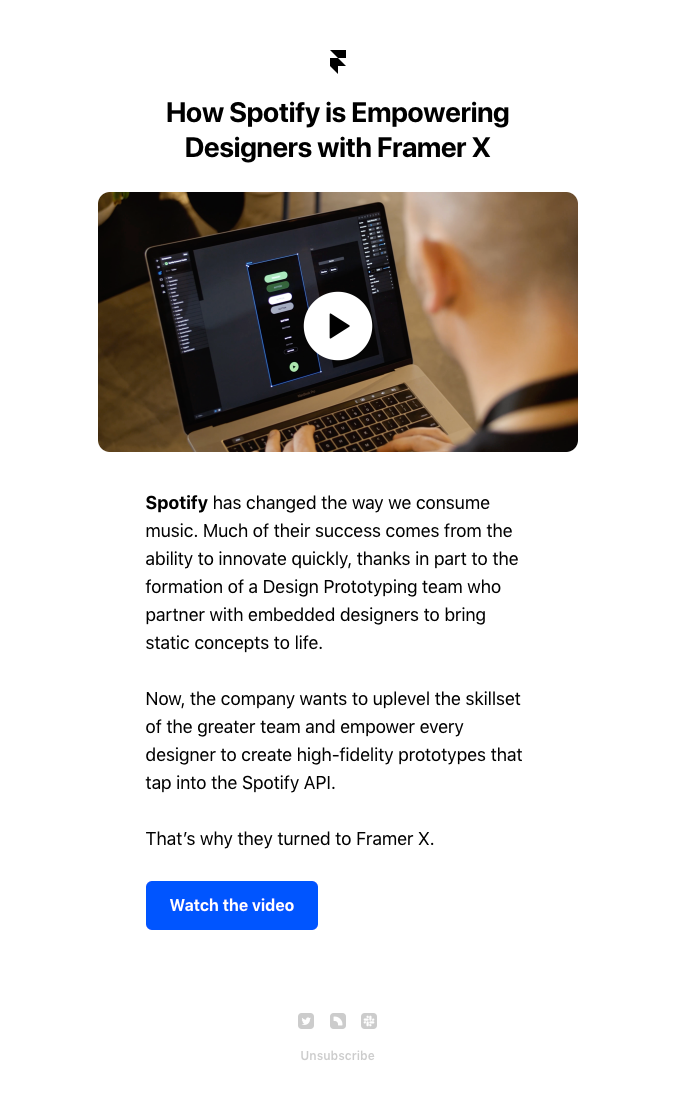 Video story: Why Spotify uses Framer X