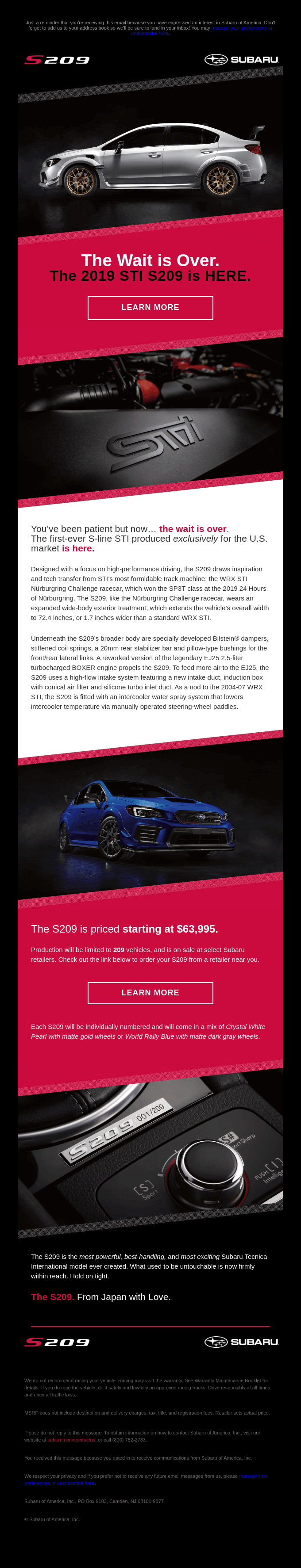 Wait... how many S209 are being made?