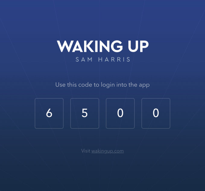Waking Up Login Code (6500)