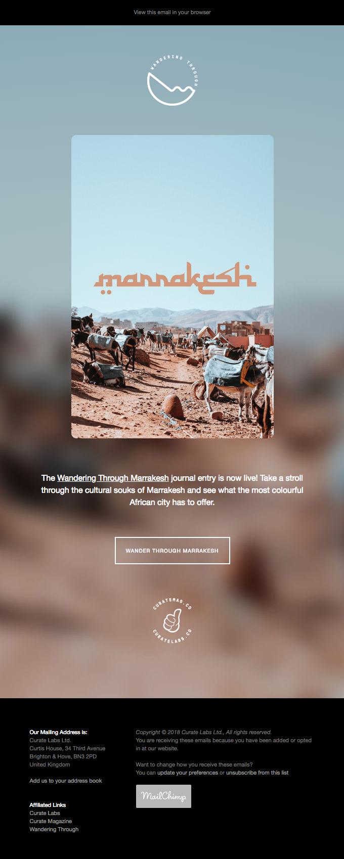 Wandering Through Marrakesh