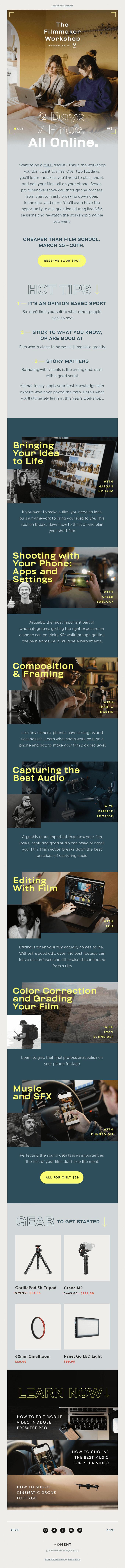 Want to be a better filmmaker? We got you.