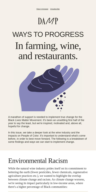 Ways to progress in farming, restaurants, and wine.