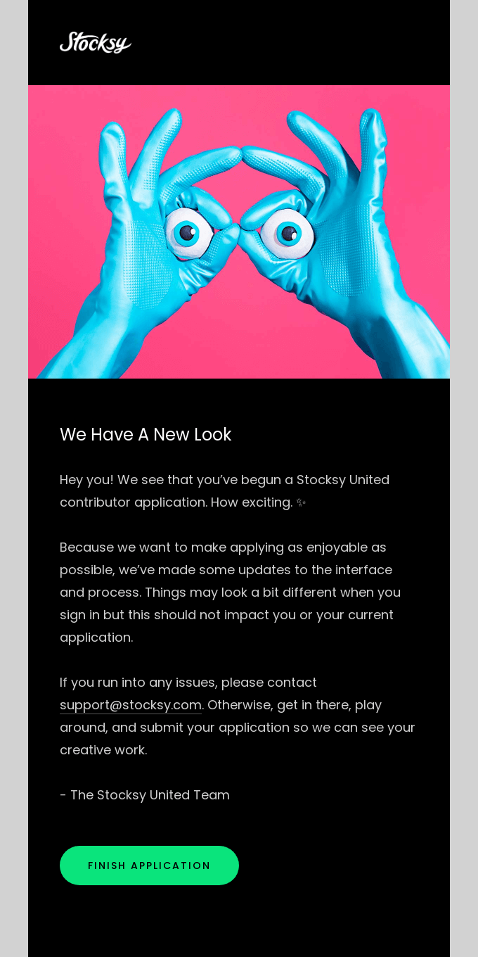 We're changing the application process 👋