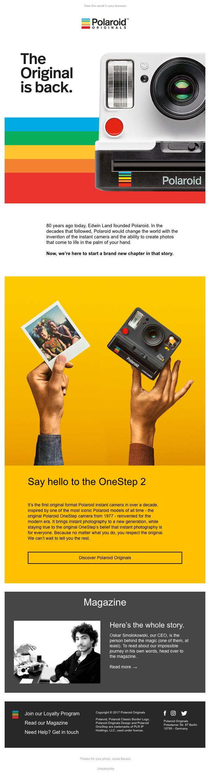 We are Polaroid Originals.