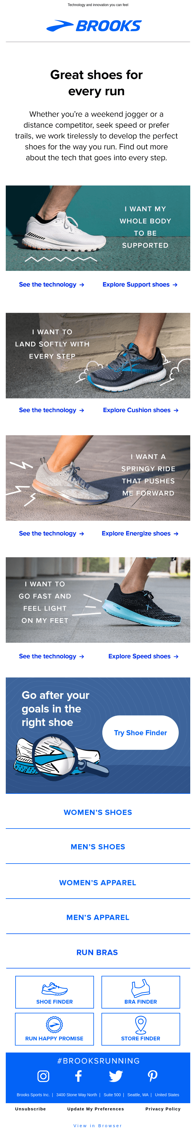 We build shoes for the way you run
