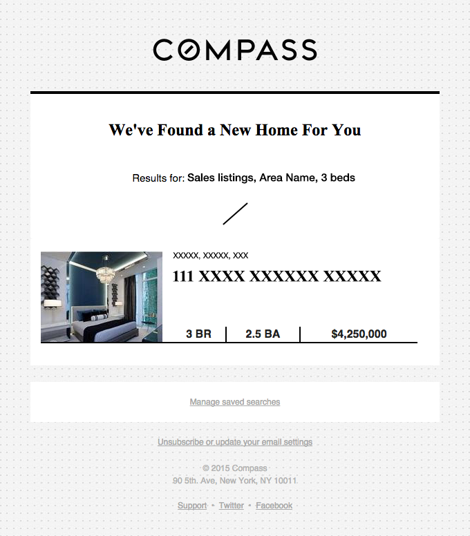 We have 1 new home for you!
