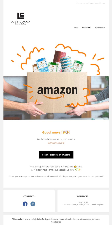 🚛 🍫We're now on Amazon.co.uk!🙌