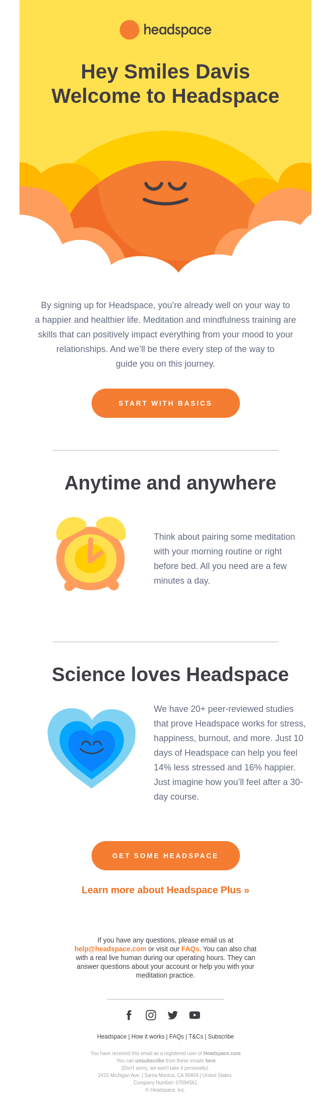 Welcome to Headspace