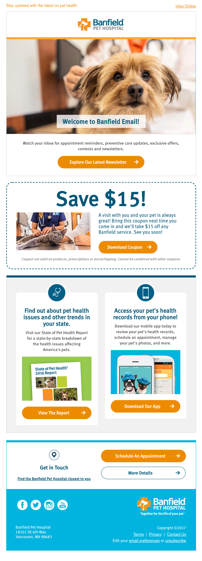 Welcome to Banfield: your pet's health care resource!