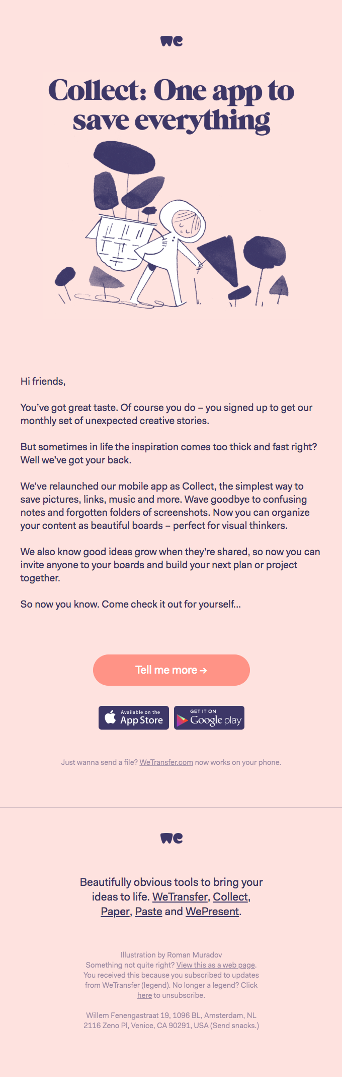 Welcome to Collect by WeTransfer
