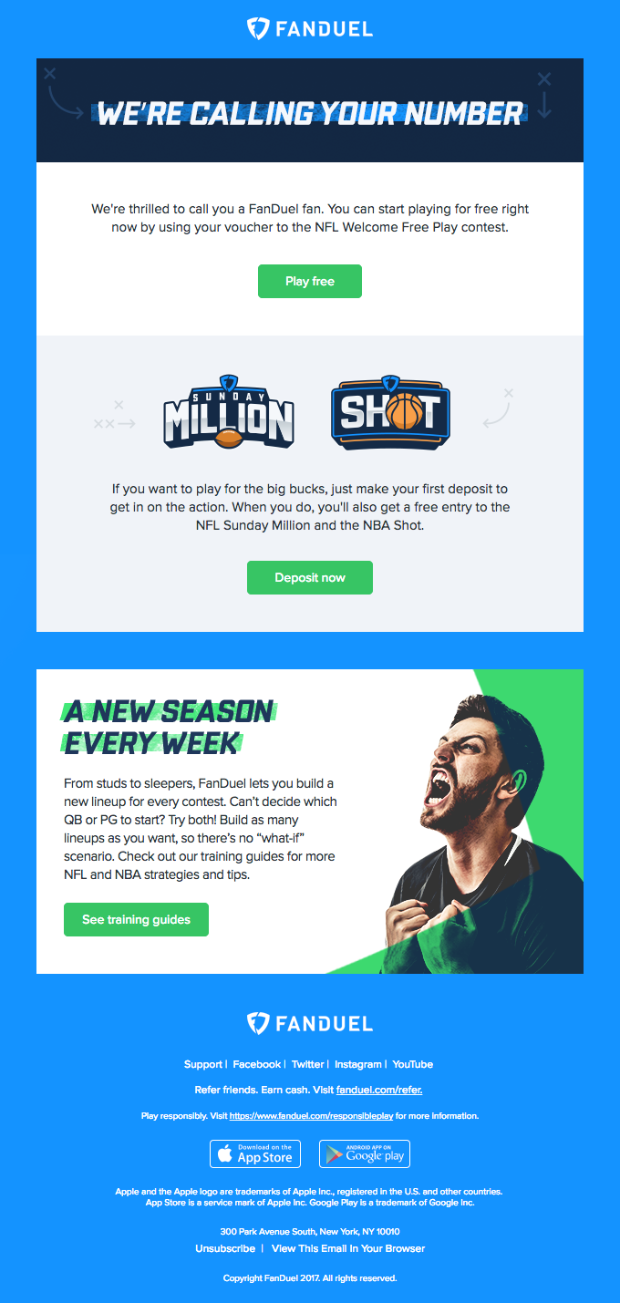 Welcome to FanDuel – some tips to get you started