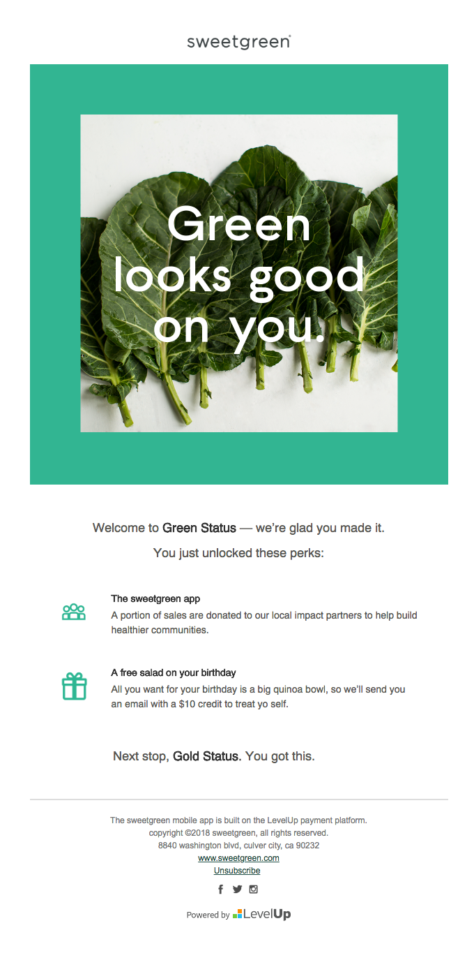 Welcome to green status!