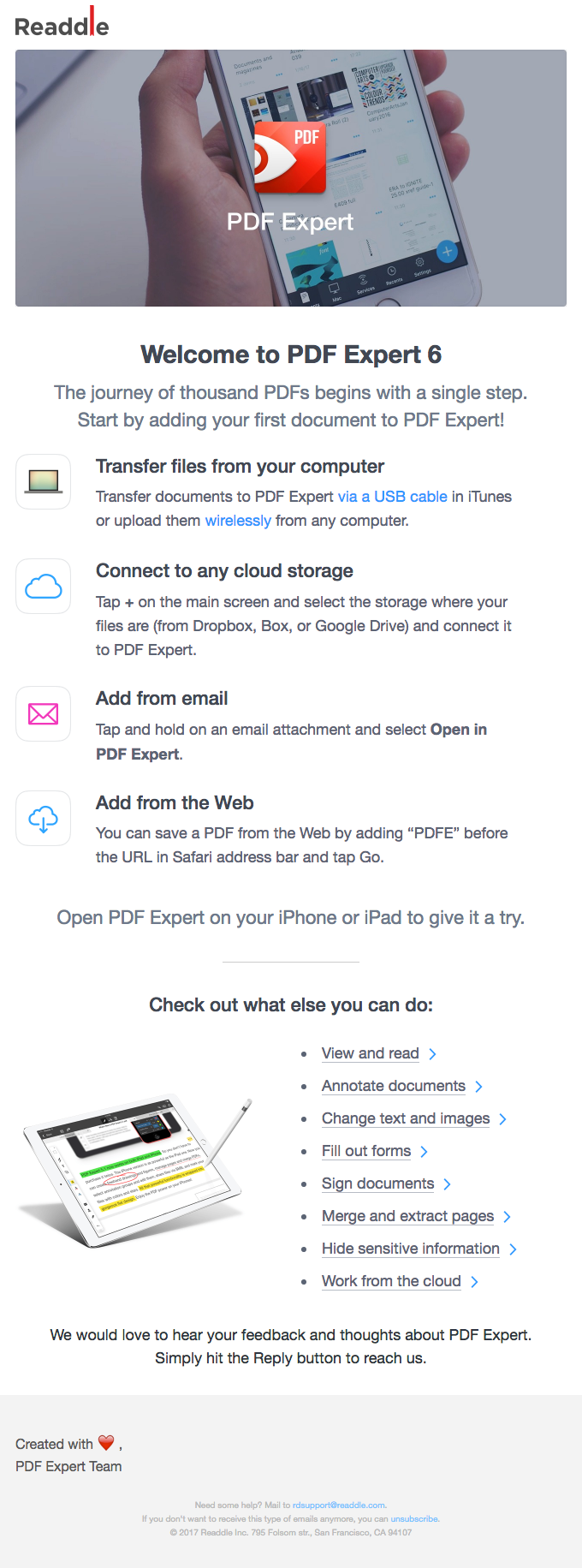 Welcome to PDF Expert 6 🚀 | Really Good Emails