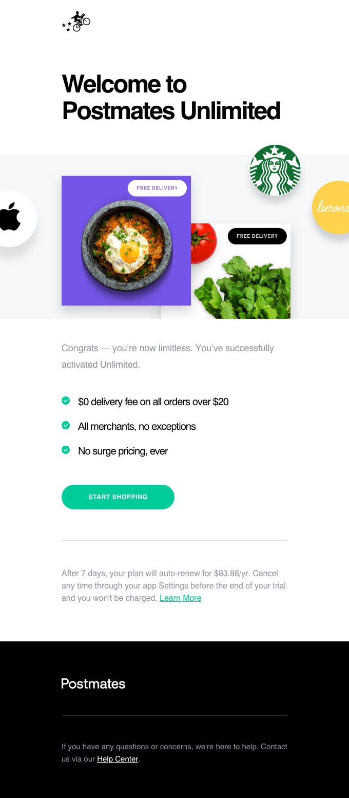 Welcome to Postmates Unlimited