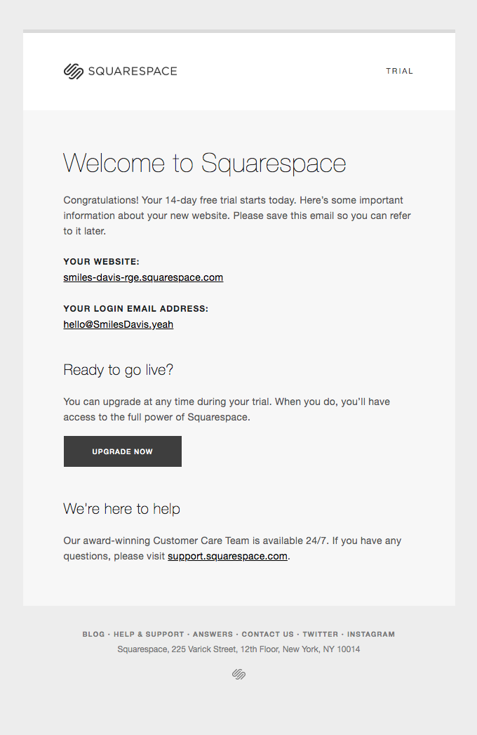 Welcome to Squarespace