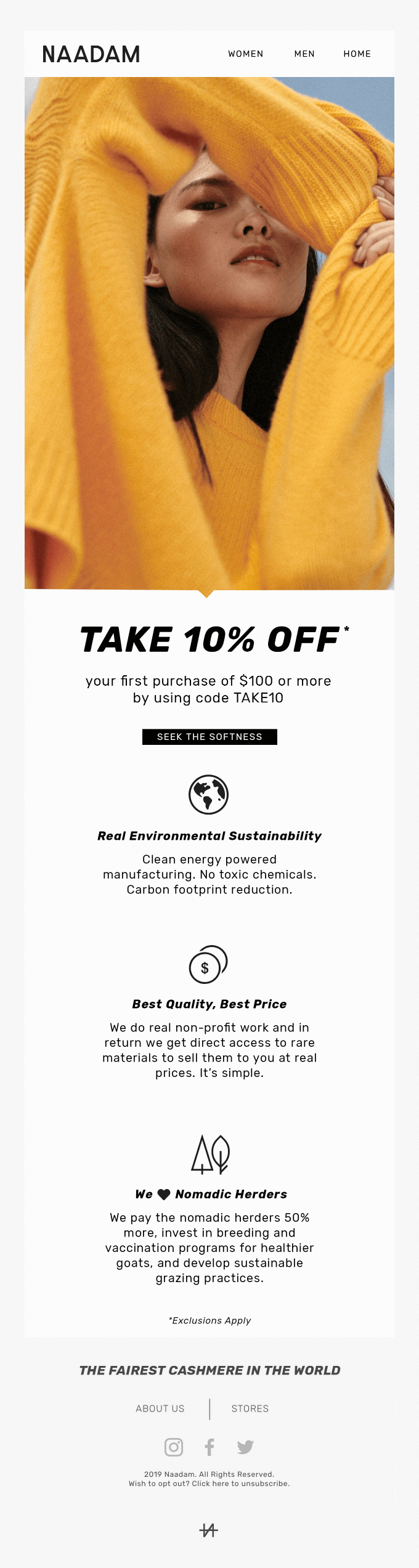 Welcome to the herd. Your 10% off code is inside