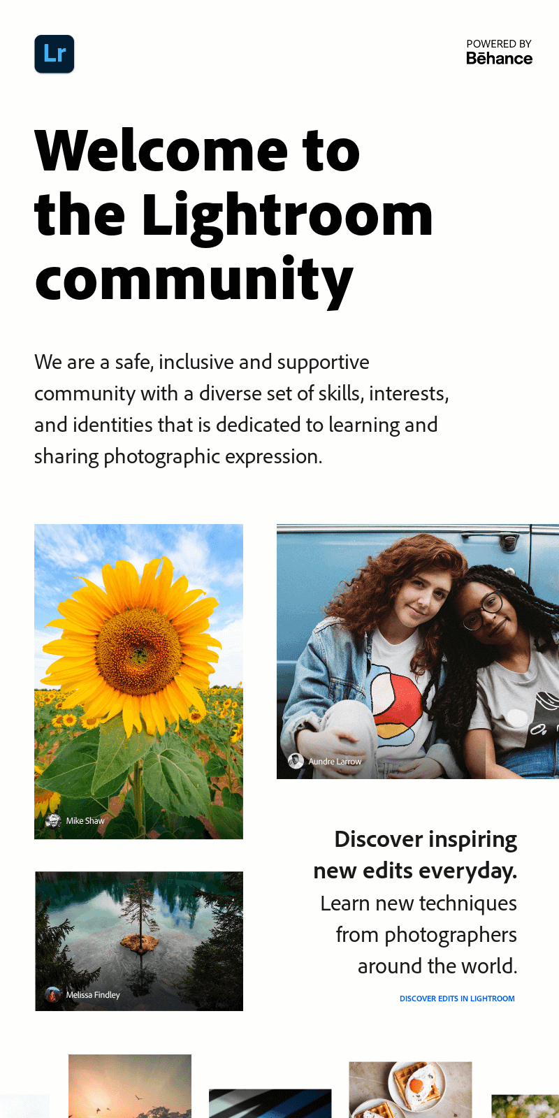 Welcome to the Lightroom community