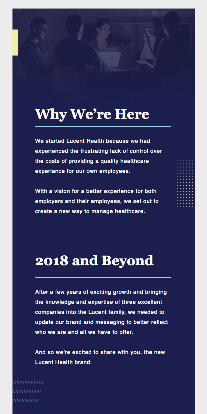 Welcome to the New Lucent Health