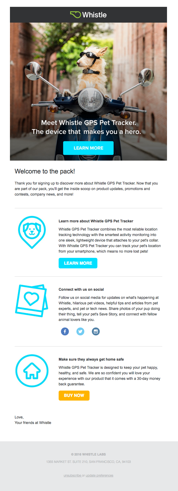 Welcome to the pack! Thanks for signing up to learn more.