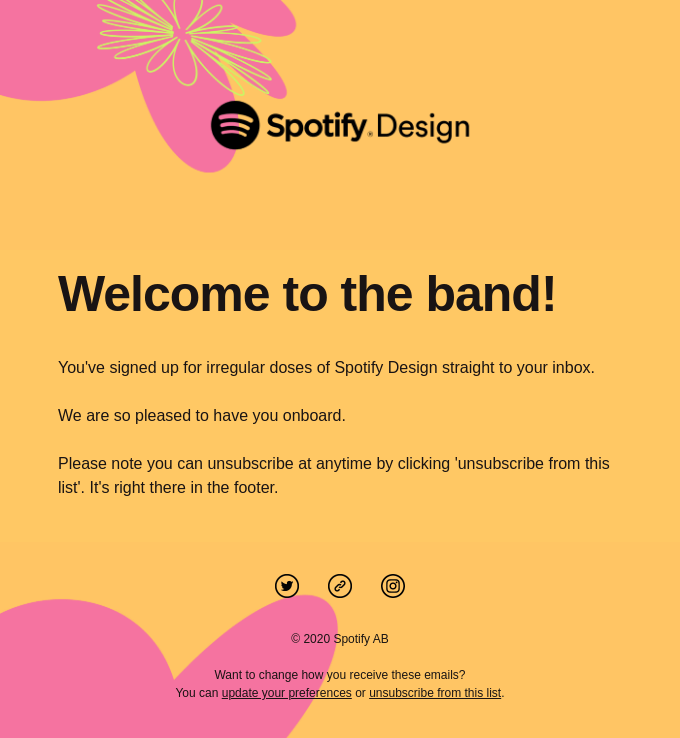 Welcome to the Spotify Design mailing list