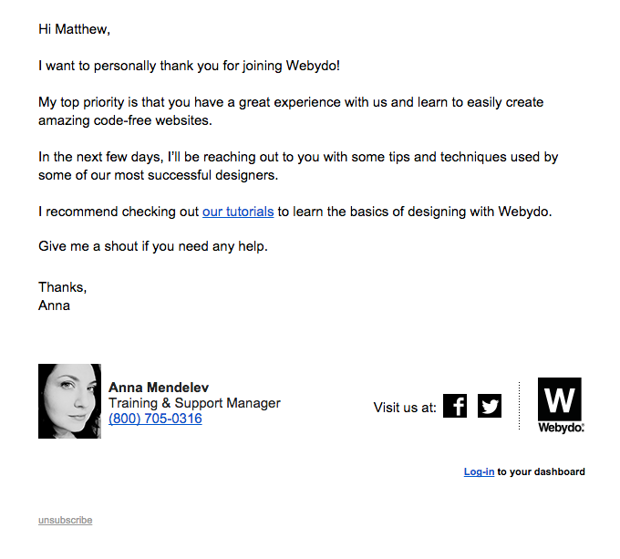 Welcome to Webydo – important information inside