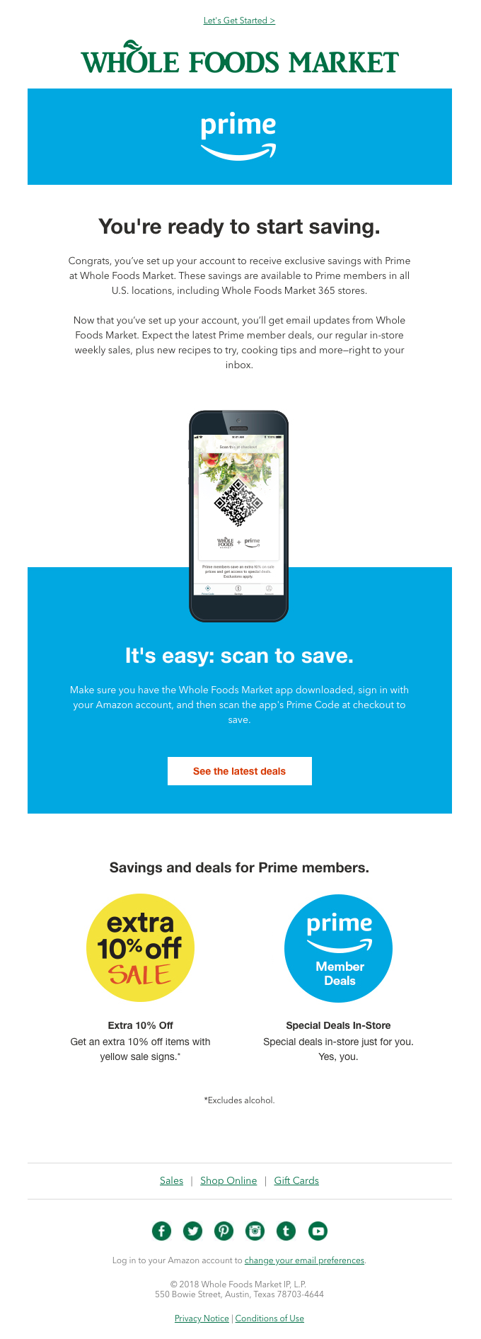 Welcome! You're Set Up to Save with Prime