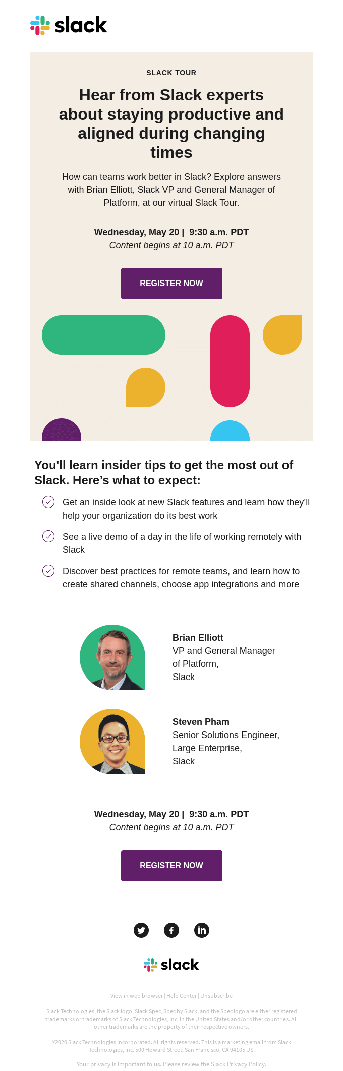What customers like you will take away from Slack Tour