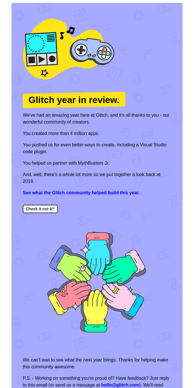 What happened this year at Glitch?
