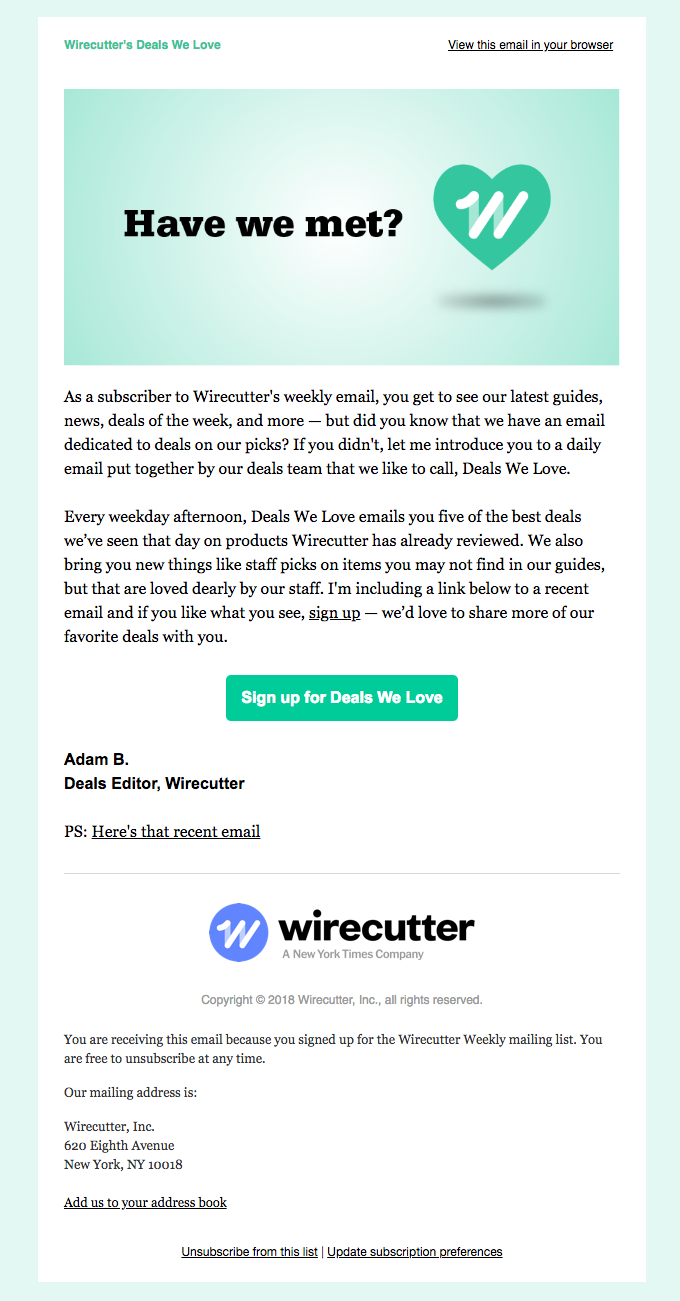 What's better than buying a new Wirecutter pick? Getting it on sale, of course!