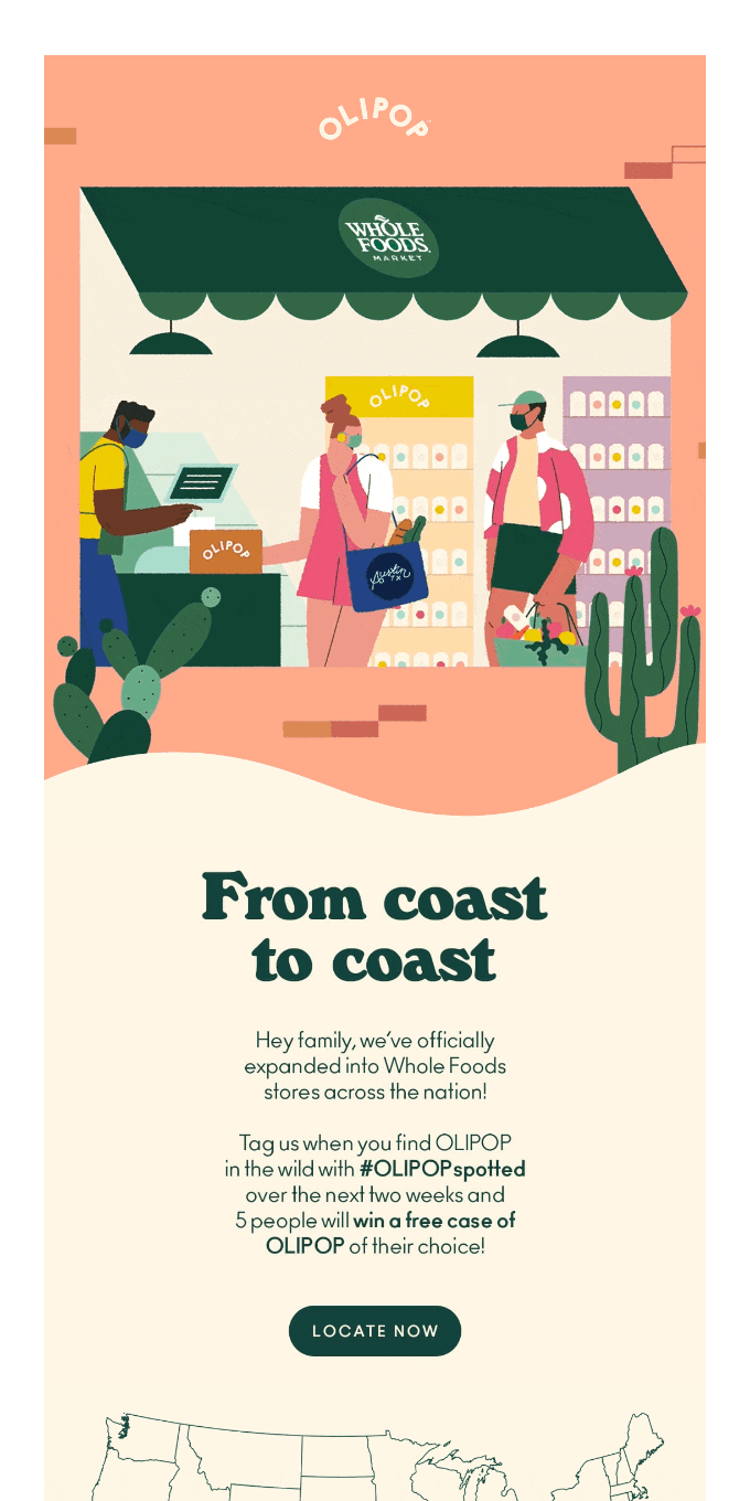 Whole Foods from coast to coast  🌊